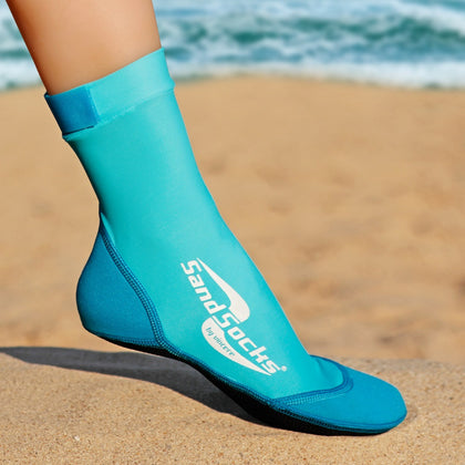 Long Sand Socks for Beach Volleyball – Aqua