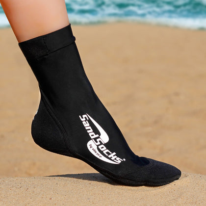 Long Sand Socks for Beach Volleyball – Black