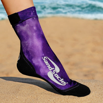 Long Sand Socks for Beach Volleyball – Purple