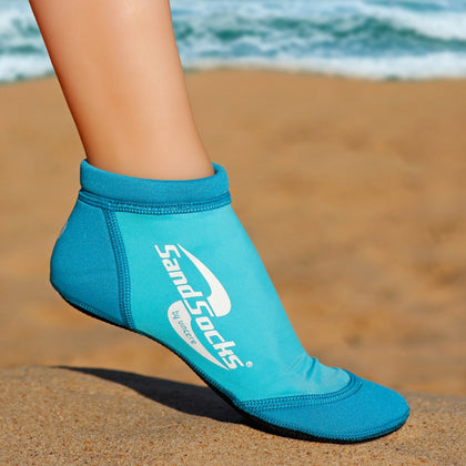 Low Top Sand Socks for Beach Volleyball – Aqua