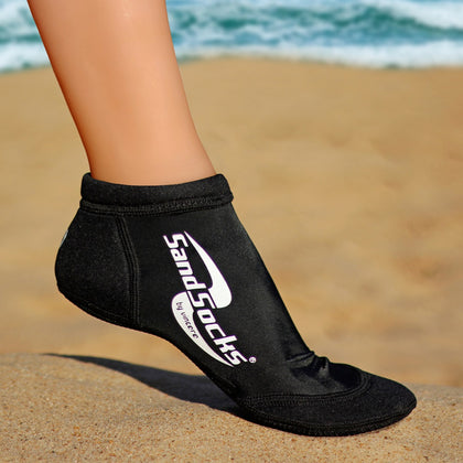 Low Top Sand Socks for Beach Volleyball – Black