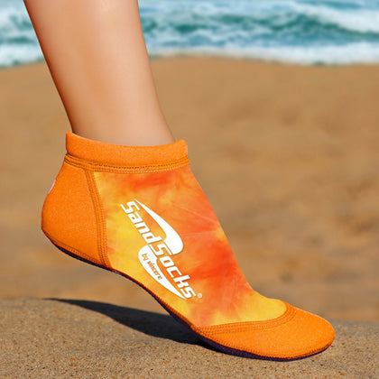 Low Top Sand Socks for Beach Volleyball – Orange