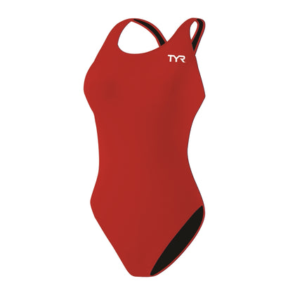 TYR Solid MDUR One Piece Women's Training Swimwear - Red