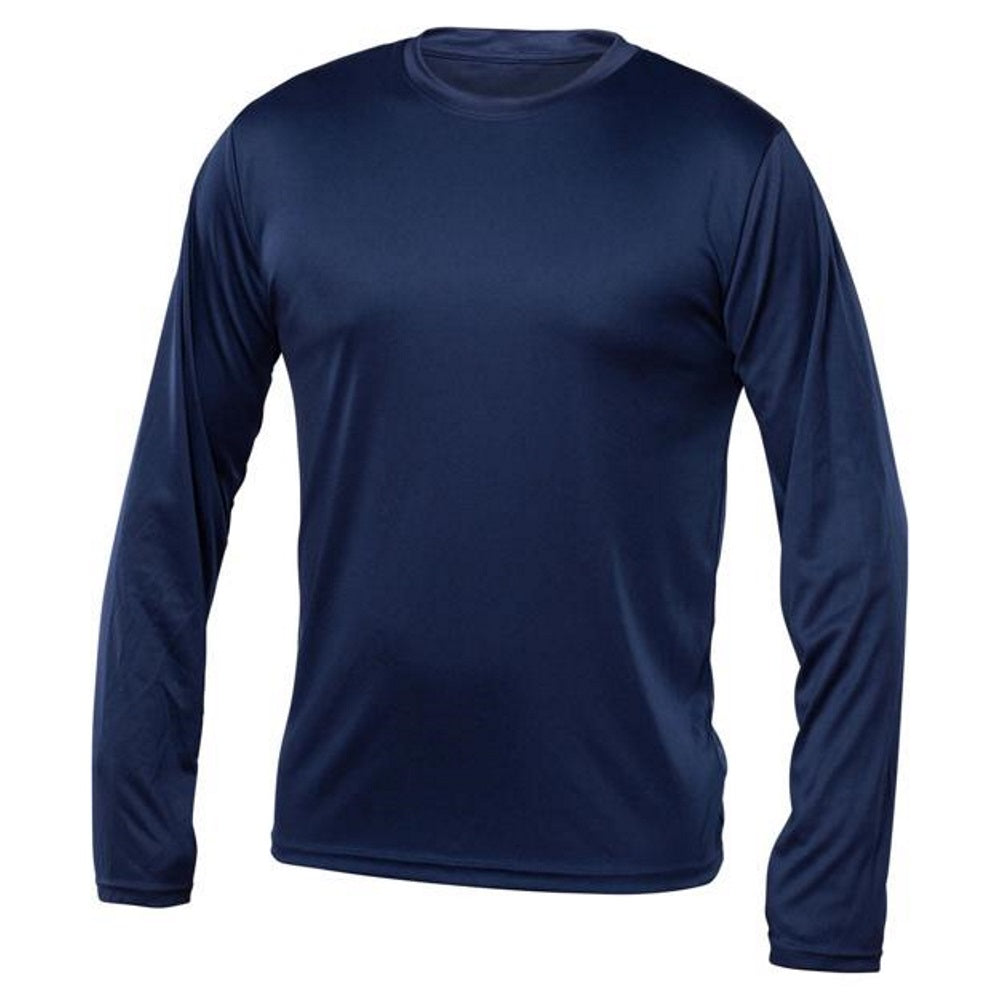 Men Long Sleeve Under Shirt - Navy