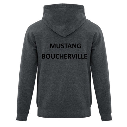 Mustang Official Hooded Sweatshirt - Grey