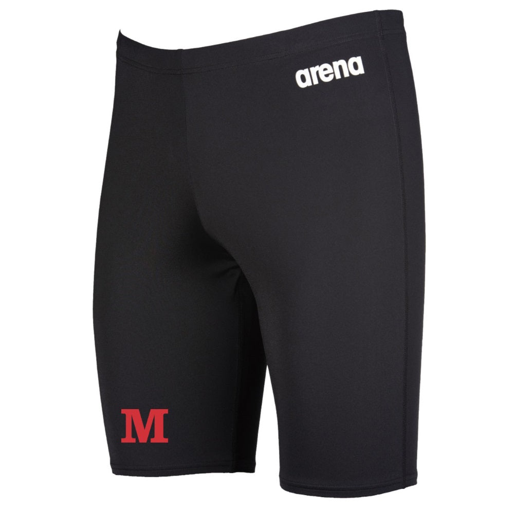 Mustang Arena Solid Jammer Boy's Swimwear - Black