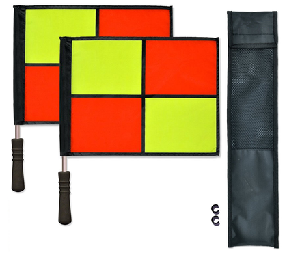 Pair of Aluminum Flags for Soccer Assistant Referee
