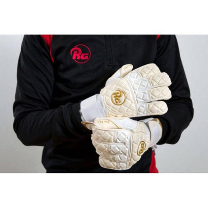 Snaga Goal Keepers Gloves de RG - White/Gold