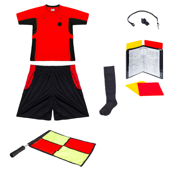 Essential Combo for Soccer Referees - Red
