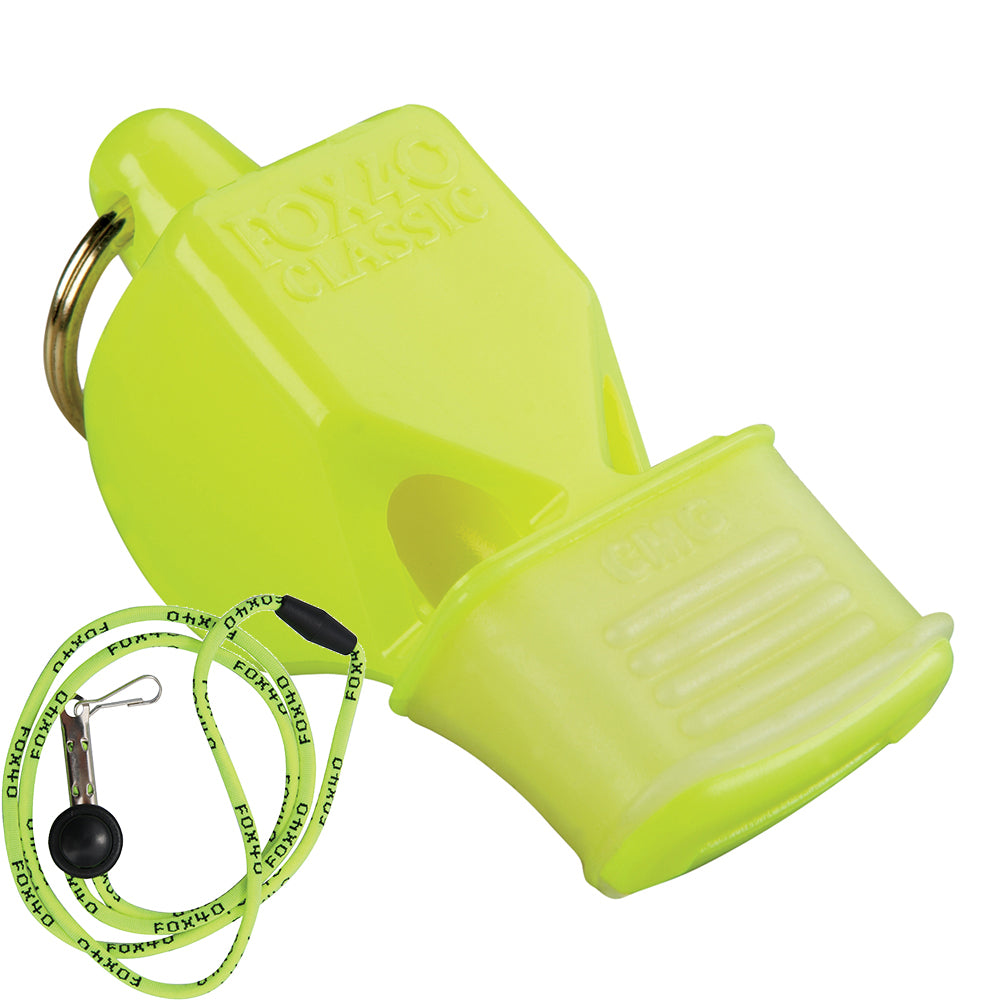 Fox 40 Classic CMG Whistle - Breakaway Lanyard