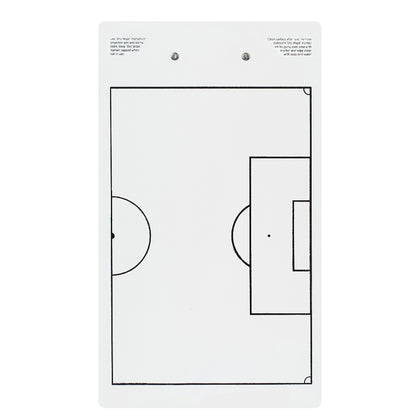 Large Soccer Coach White Clipboard