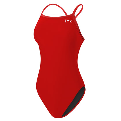 TYR Solid DSTL One Piece Women's Training Swimwear - Red