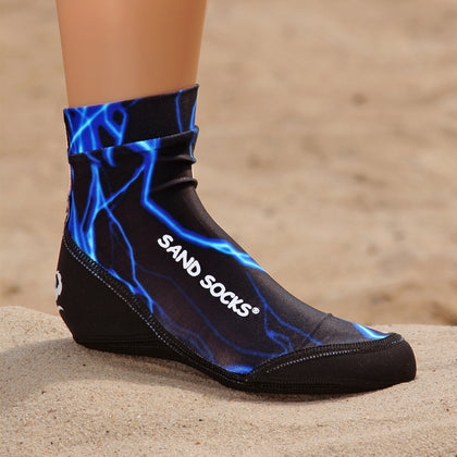 Toddlers Sand Socks for Beach Volleyball – Blue Lightning