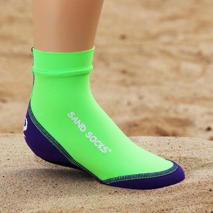 Toddlers Sand Socks for Beach Volleyball – Lime Green