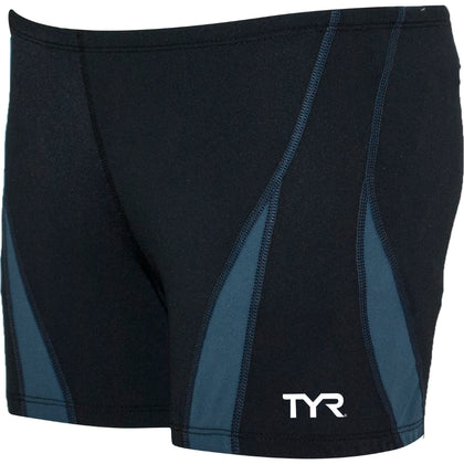 TYR Solid Squared Leg Alliance Splice Men's Swimwear - Black and Robot