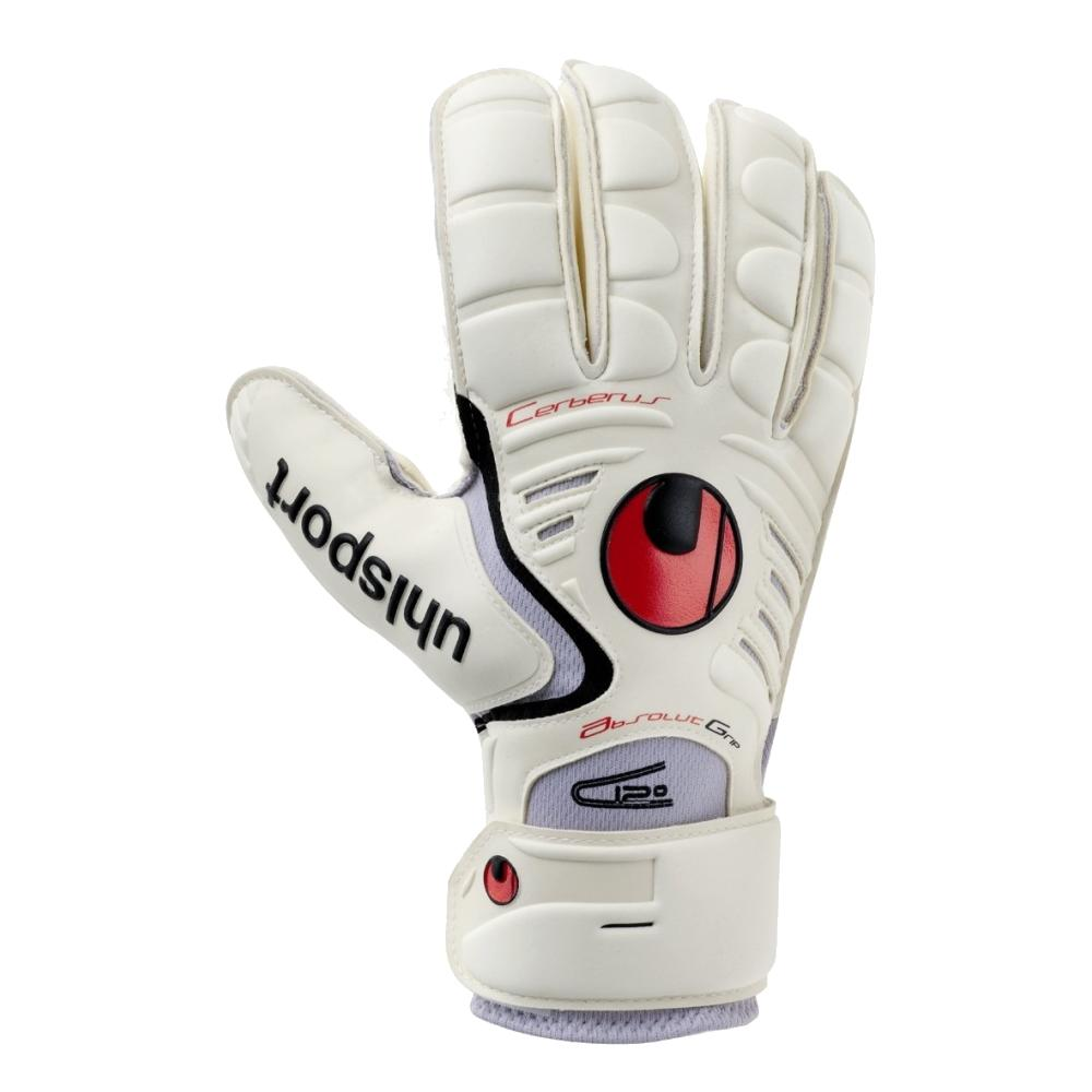 Cerberus Absolut Grip Goal Keepers Gloves - Uhlsport - White