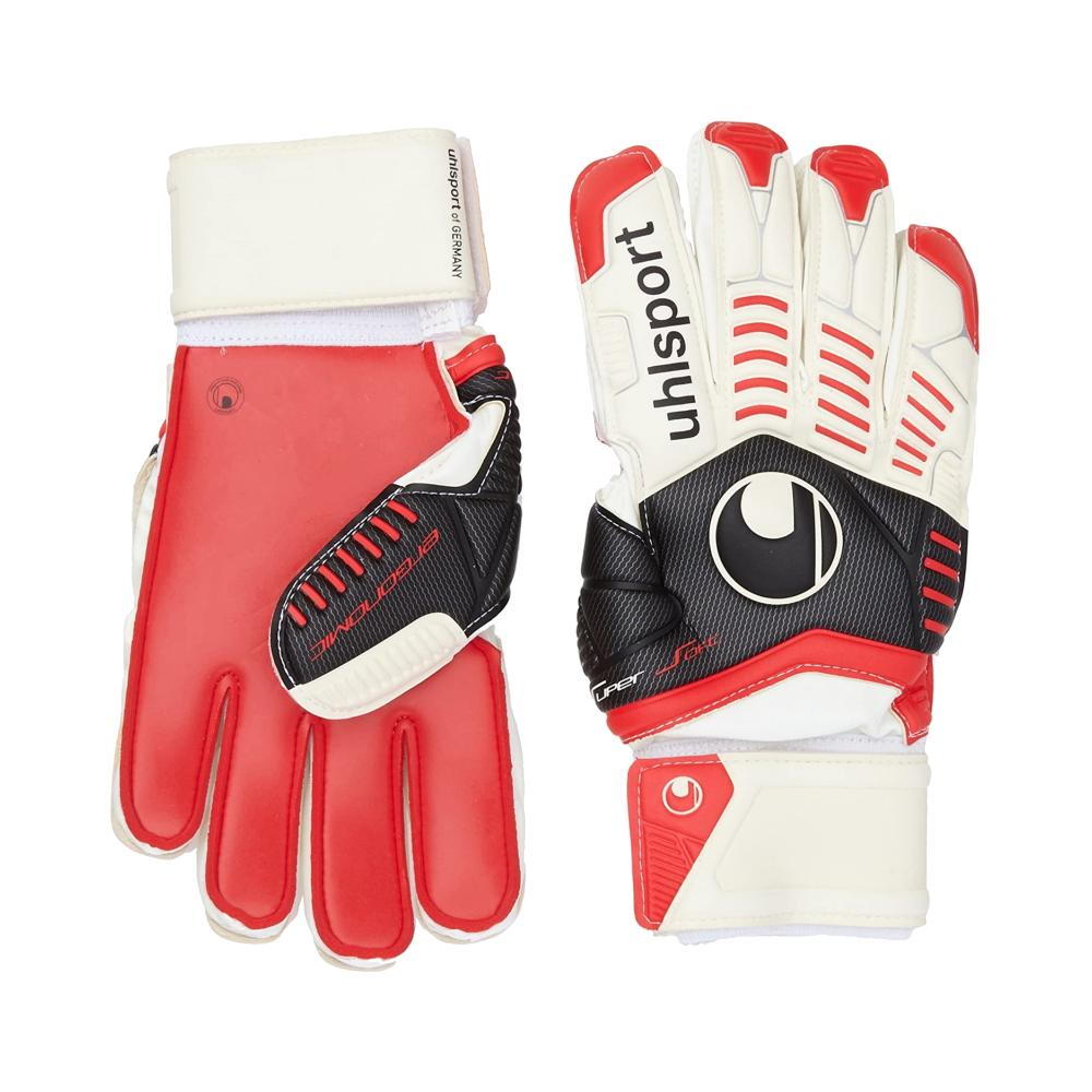 Ergonomic Supersoft Goal Keepers Gloves - Uhlsport - White/Black/Red