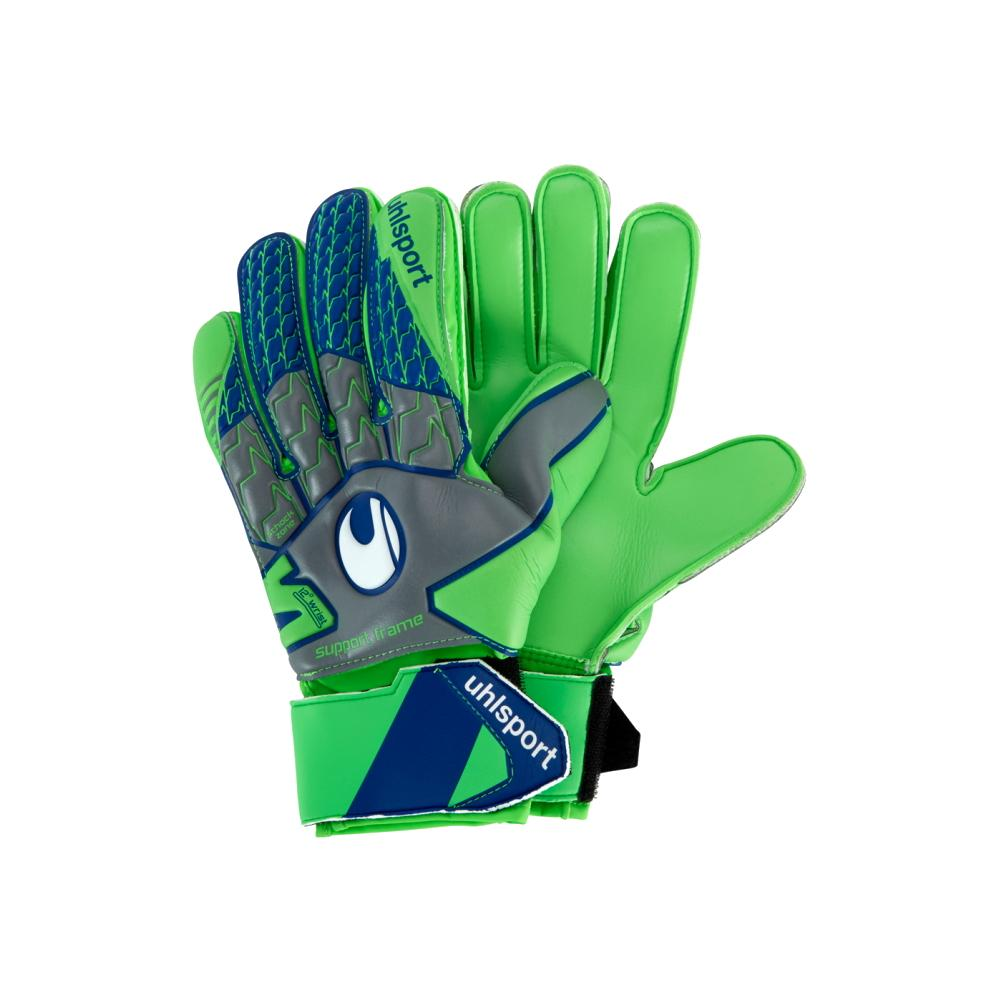 Tensiongreen Soft Advanced Goal Keepers Gloves - Uhlsport - Green/Grey/Blue