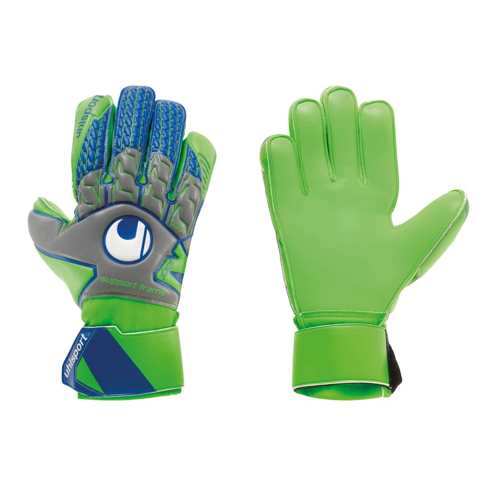 Tensiongreen Soft SF Goal Keepers Gloves - Uhlsport - Grey/Green/Blue