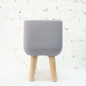 Cube Concrete Planter With Legs