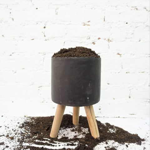 Cylinder Concrete Planter With Legs - Dahing Plants