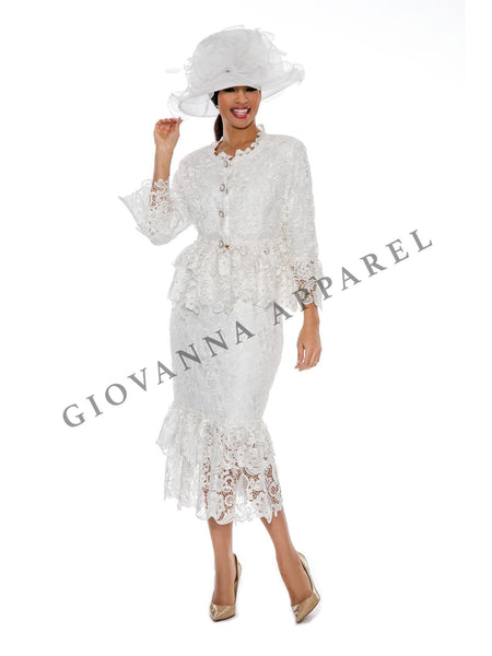2pc Tiered Lace Skirt Suit