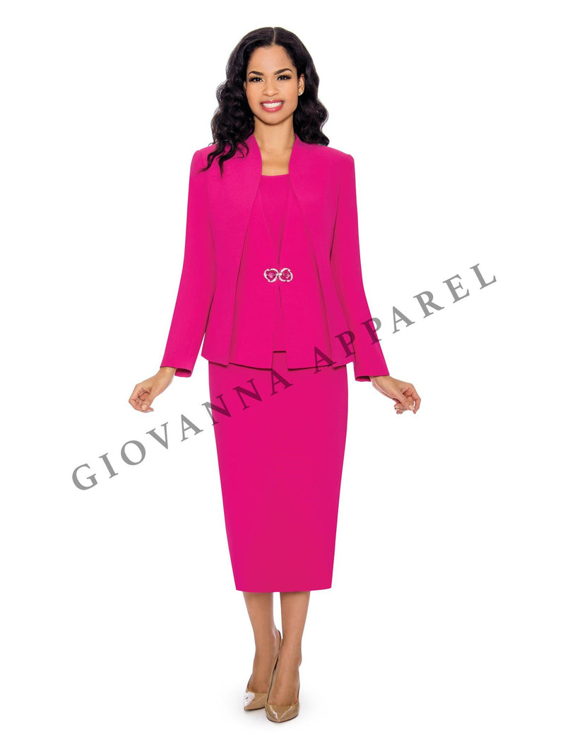 3pc Layered Panels Skirt Suit