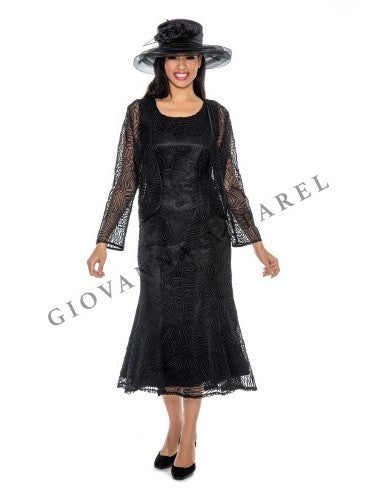2pc Lace Bolero Jacket Dress - Plus size