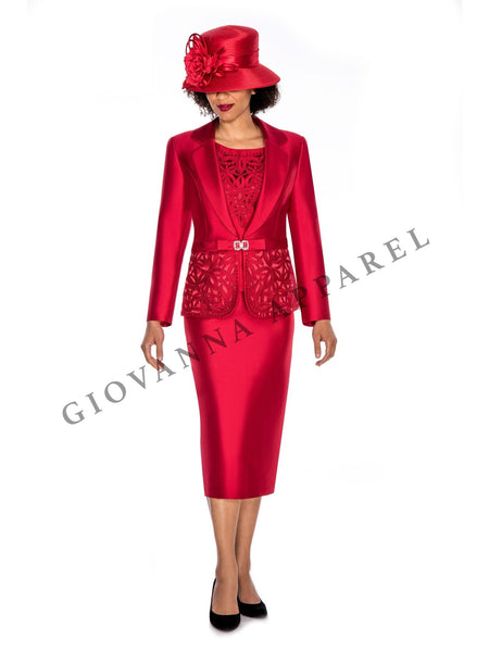 3pc Notch Collar Cutout&Beading Embellished Suit - Plus Size