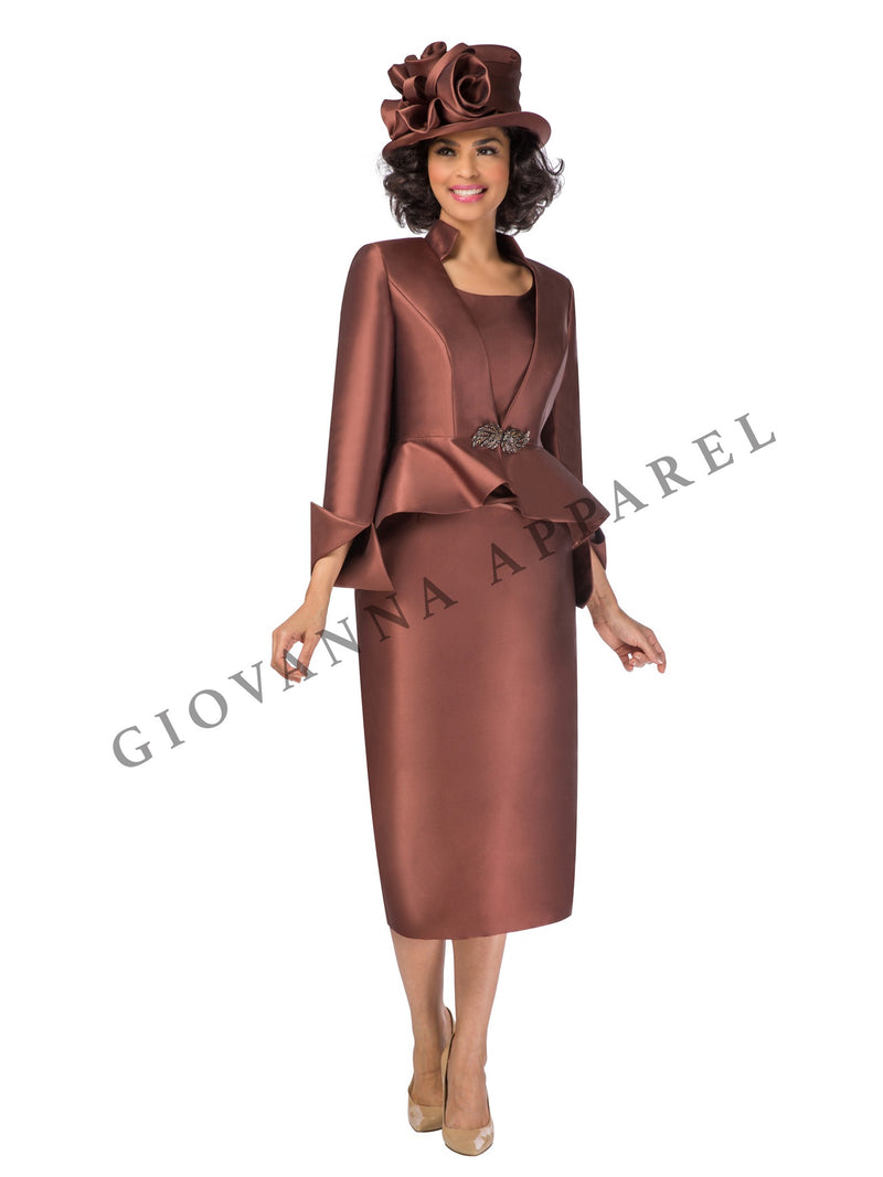 3pc Hi-Lo Peplum Jkt Skirt Suit - Plus Size