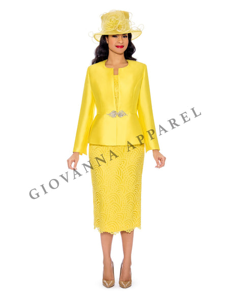 3pc Peplum Bell Sleeve Skirt Suit - Plus Size