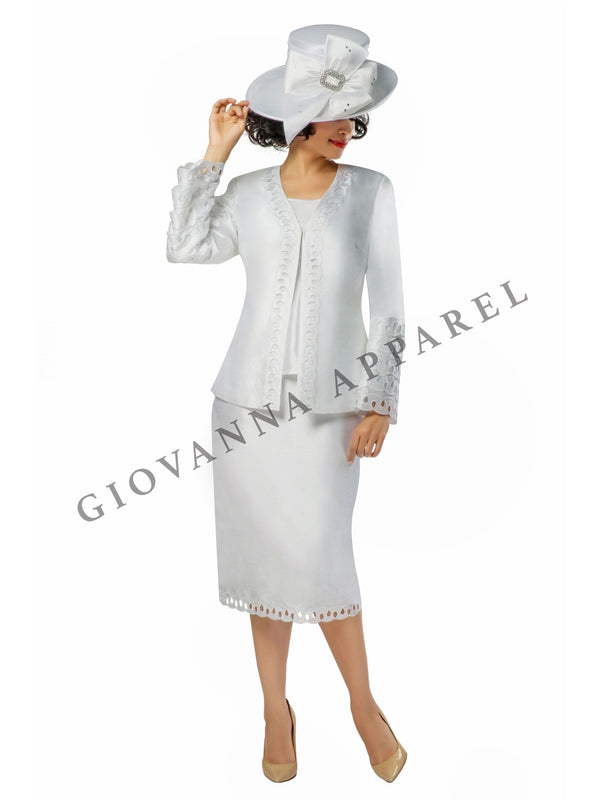 3pc Bell Sleeve w/ Layered Cutout Detail Suit - Plus Size
