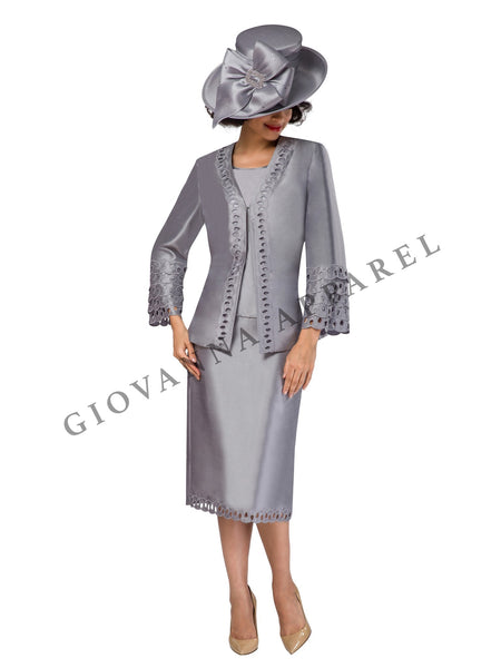 3pc Bell Sleeve w/ Layered Cutout Detail Suit