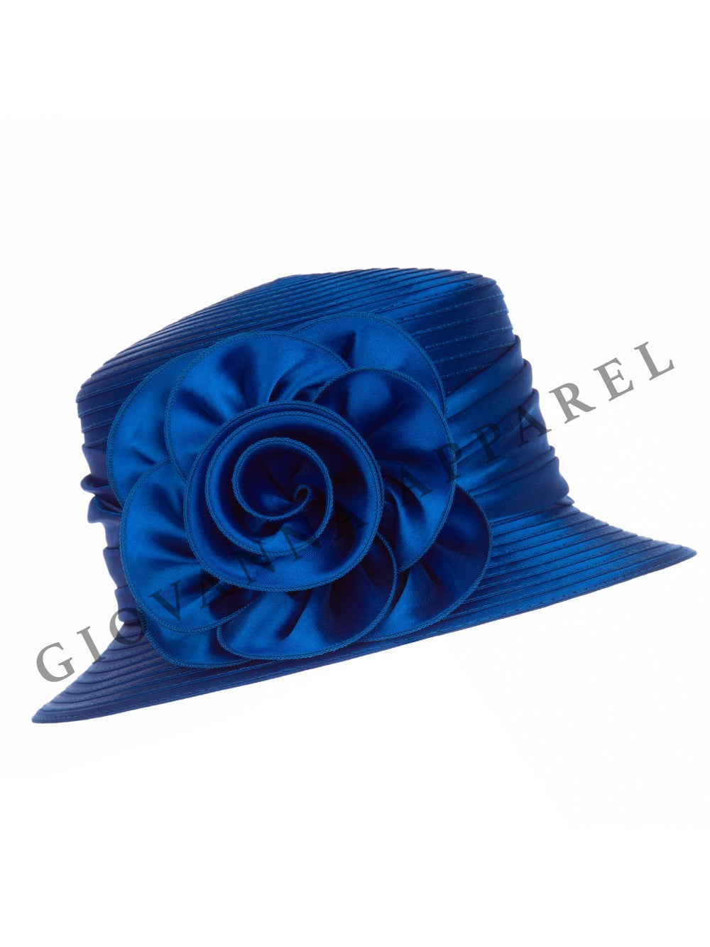 Ribbon Hat with Satin Flower