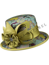 Brocade Small Brim Hat w/ Silky Twill Flower