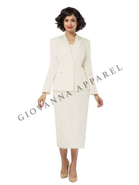 2pc Notch Collar 2-button Skirt Suit - Plus Size