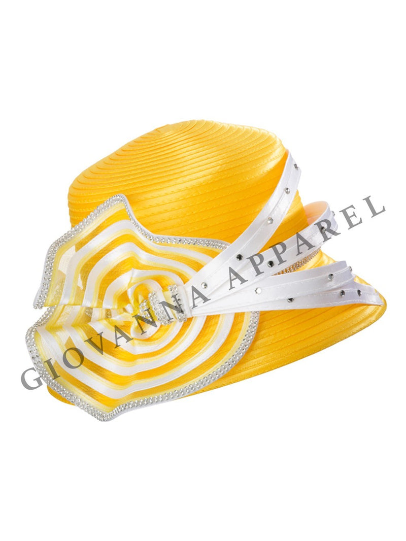 Small Brim two-tone Ribbon Hat