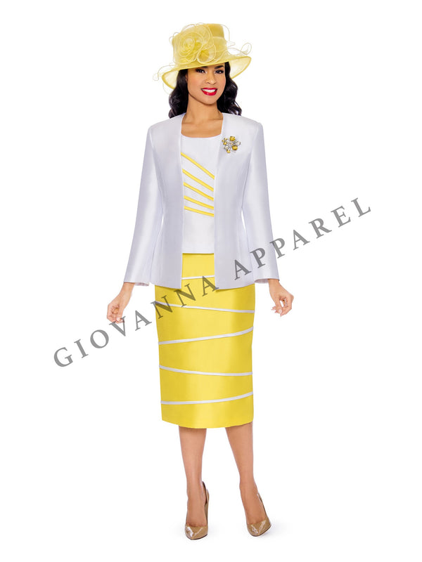 3pc Color Block Suit w/ Irregular Piping Details - Plus Size