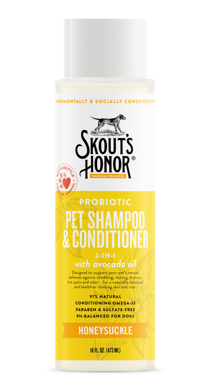 Skout's Honor - 2-in-1 Probiotic Pet Shampoo & Conditioner (Honeysuckle)