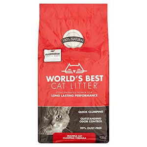 World's Best Cat Litter - Multi-Cat Clumping Formula (7 lb)
