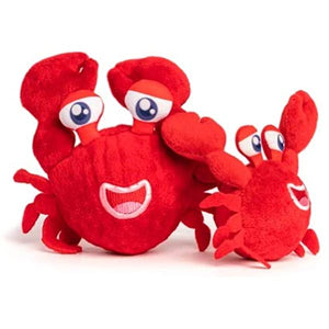New! Fab Dog Crab Squeaker Bounce Ball Toy for Dogs