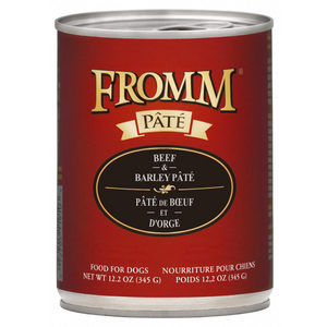 Fromm Pate Beef and Barley Pate Canned Dog Food (12.2 oz)