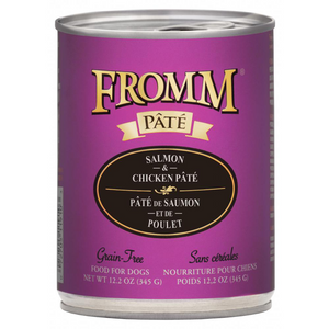 Fromm Pate Grain-Free Salmon and Chicken Pate Canned Dog Food (12.2 oz)