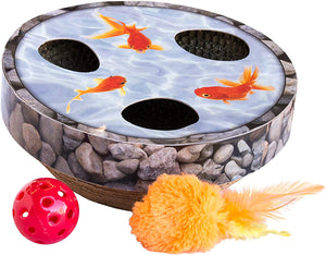 Hide & Seek Wobble Pond Interactive Cat Puzzle & Scratch Toy by Petstages