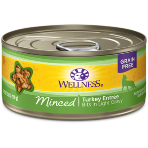 Wellness Minced Entree Grain-Free Canned Cat Food (24 packs)*