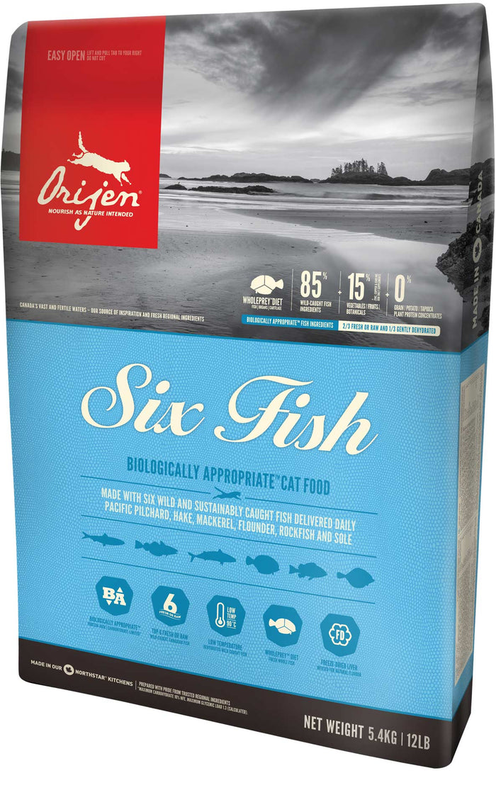 Orijen - Six Fish Grain-Free Dry Cat Food (4 lb)