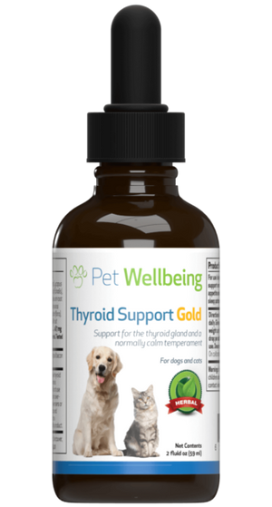 Pet Wellbeing - Thyroid Support  Gold (2 fl oz)