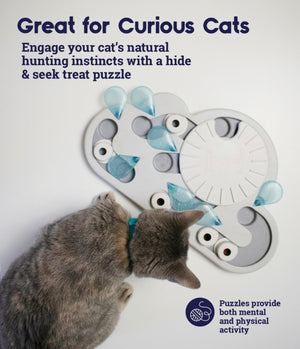 Rainy Day Puzzle & Play Cat Game Toy by PetStages & Nina Ottosson