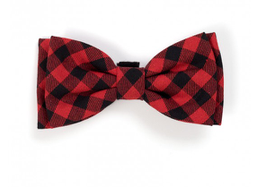 The Worthy Dog Buffalo Plaid Bow Tie