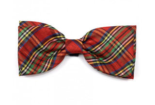The Worthy Dog Red Plaid Lurex Bow Tie